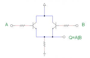 or gate with transistors