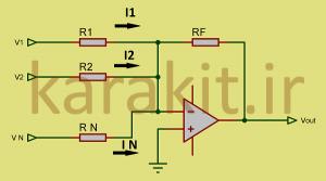 inverse summing amplifier